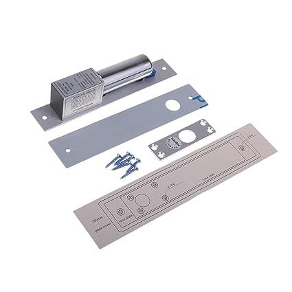 IPOTCH 1 pc Cerradura Eléctrica de Puerta de Perno de Gota de Metal de 12V Seguridad