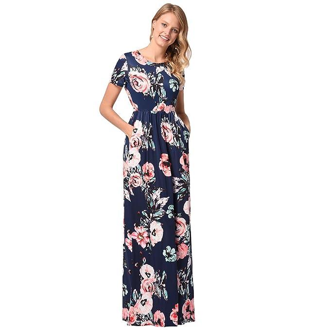 0459ff032 Lylafairy Vestidos Flores Largos Mujer  Amazon.es  Ropa y accesorios