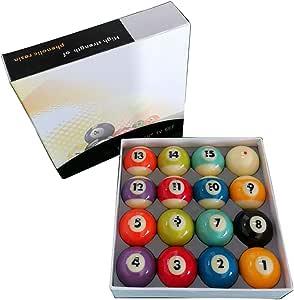 WXS Bolas De Billar, 16 PCS/Bolas De Billar para Una Buena Flexibilidad Juego Completo Bolas De Billar Resina: Amazon.es: Deportes y aire libre