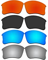 4 Pair Replacement Lenses for Oakley Flak Jacket XLJ Sunglasses With Polarized Pack P3-1