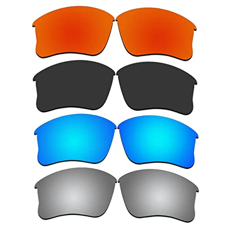 e700d4e719 Amazon.com  4 Pair ACOMPATIBLE Replacement Lenses for Oakley Flak Jacket  XLJ Sunglasses With Polarized Pack P3-1 (Not Fit Flak Jacket