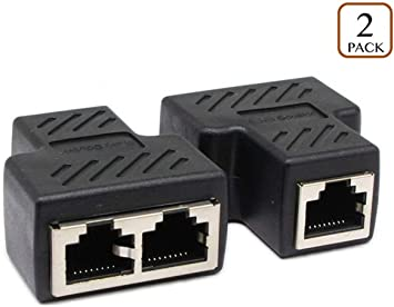 1Pair RJ45 Female Coupler Connector for Ethernet Cat 5// CAT 6 LAN Ethernet Cable