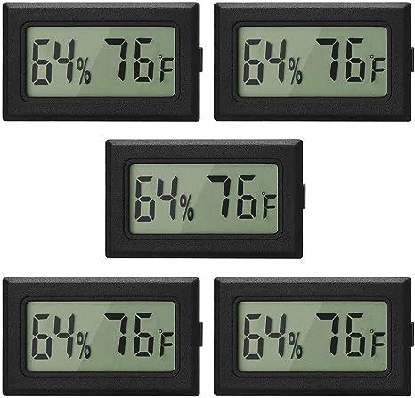 Digital LCD Temperature Mini Humidity Meters Gauge Indoor Thermometer-Hygrometer