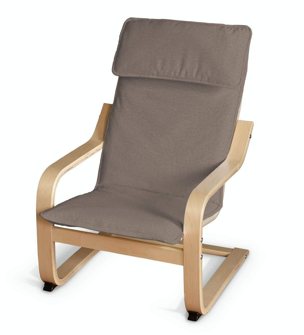 Dekoria Poäng Kissen für den Kindersessel Sesselhusse passend für IKEA Modell Klappsta grau-braun