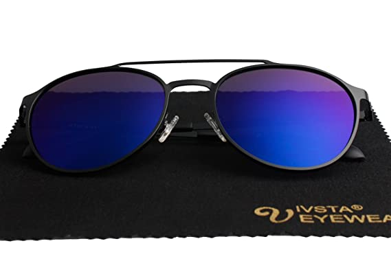 582b8a7d84c Aviator Sunglasses Polarized for Men Women with Sun Glasses Case - UV 400  for Driving Fishing