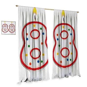 Amazon.com: Cortinas de decoración para habitación de 75 ...