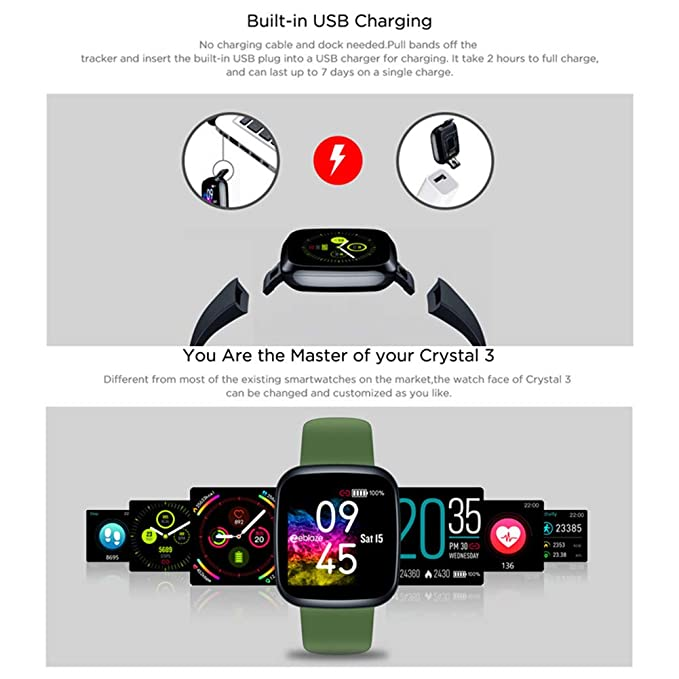 Amazon.com: Zeblaze Crystal 3 Smartwatch Men Women IP67 ...
