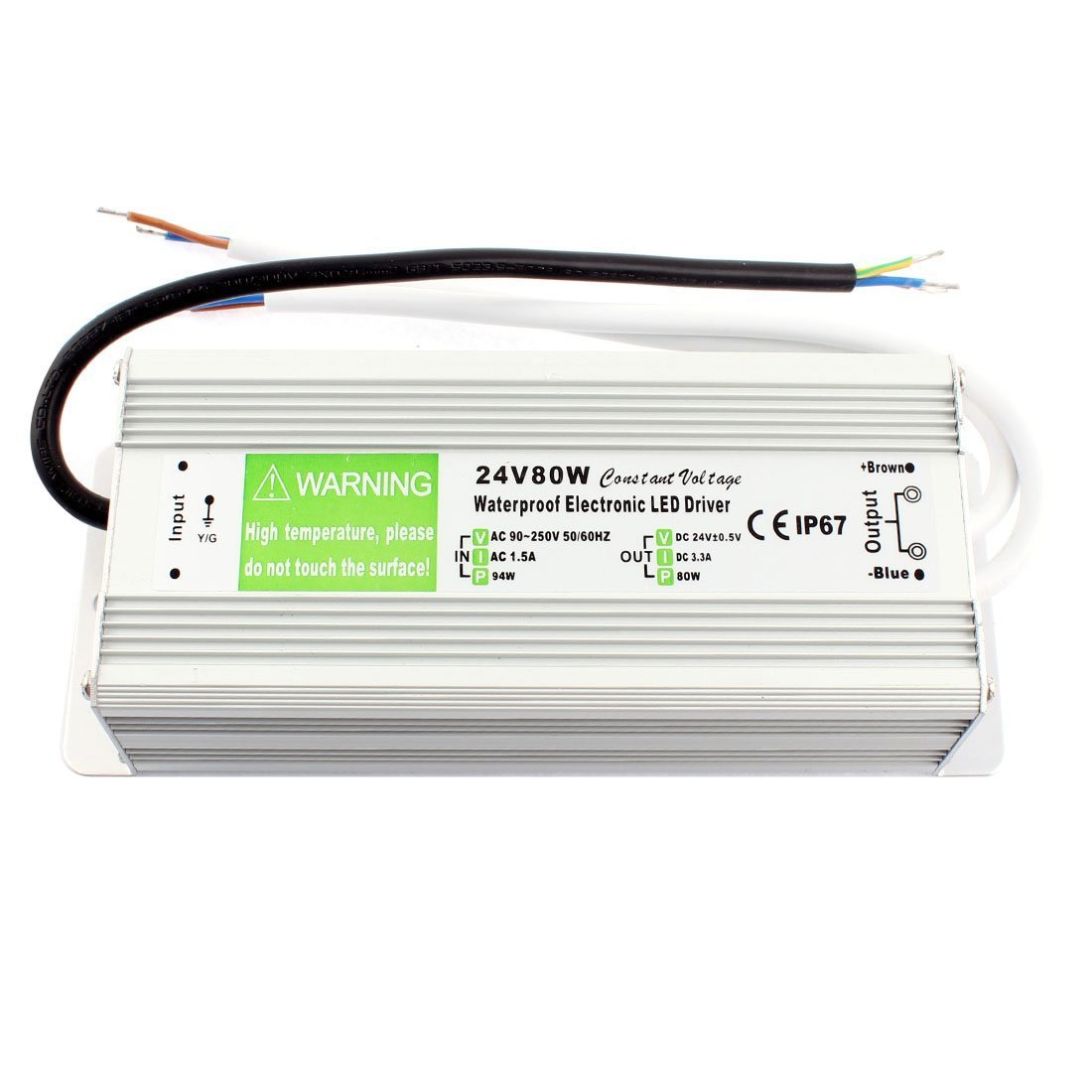 joypjlit Dc24v 80w LED Transformer Power Supply Led Driver Waterproof for Outdoor Use Ip67