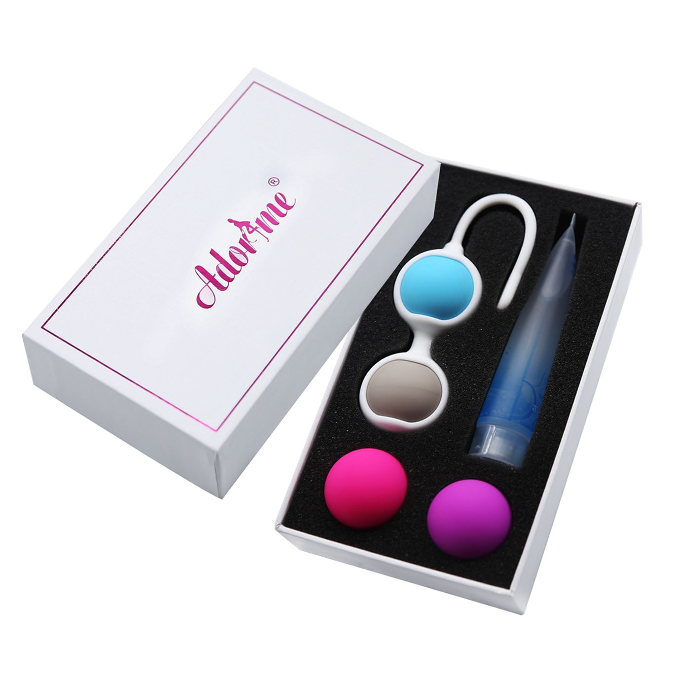 Kegel Exercise Weights - Adorime Ben Wa Kegel Balls Weighted Exercise Kit for Beginner - Doctor Recommended for Women & Girls Bladder Control & Pelvic Floor Exercises