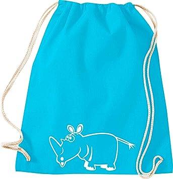 Camiseta stown Turn Bolsa Animales rinoceronte, turquesa ...