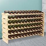 Mecor 72 Bottle Capacity Stackable Storage Wine Rack, Standing Bottles Storage Shelf, Wobble-free,6-Tier