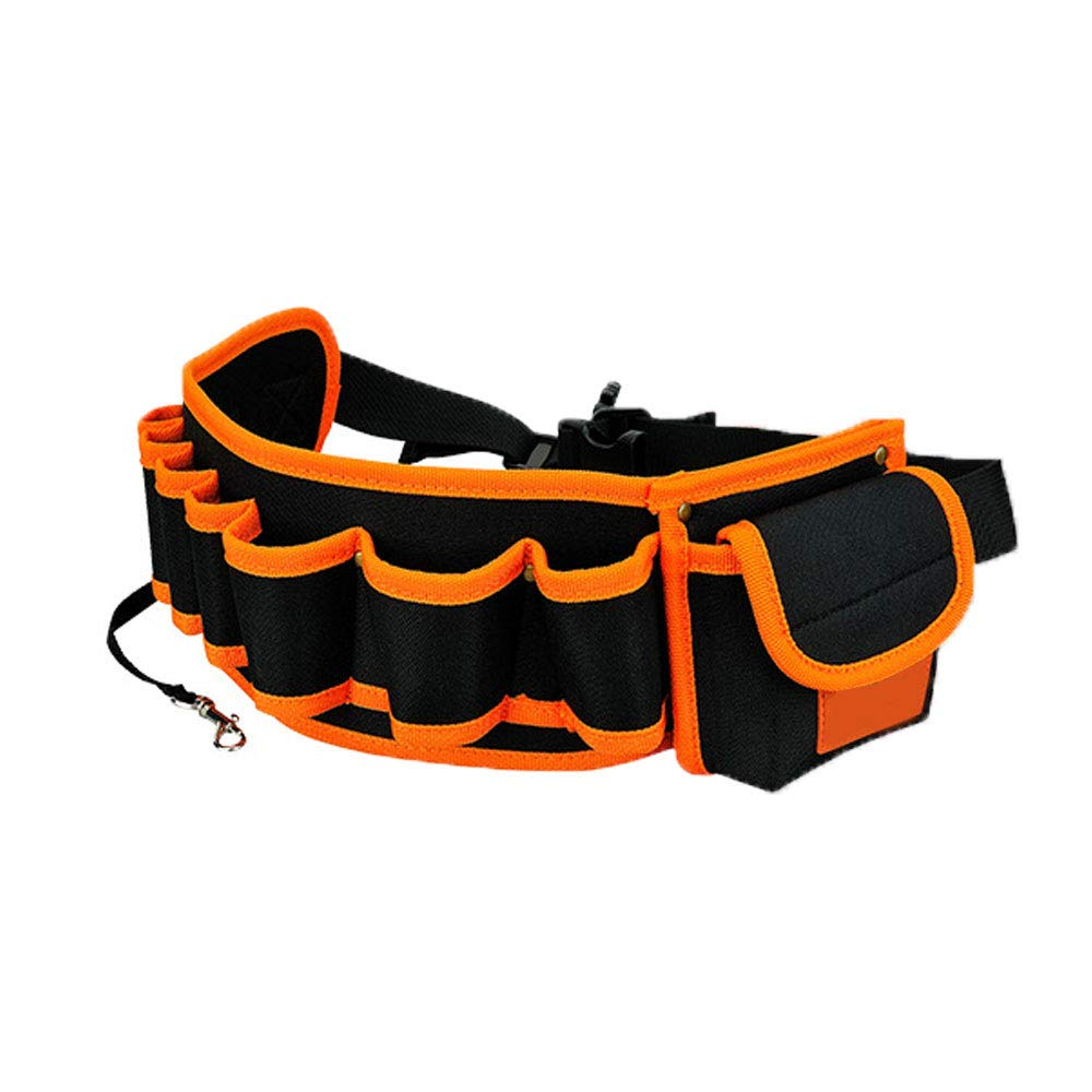 Tool Waist Bag, 1Pc Professional Hardware Electricians Oxford Tools Holder Pouch Pocket With Adjustable Nylon Waist Belt