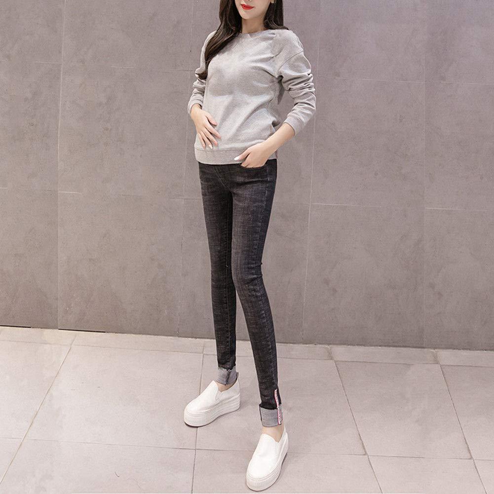 babe85b3eb738 Xinvision Maternity Pregnant Jeans Elastic - Blue/Black Stylish Motherhood  Leggings Slim Fit Over The Bump Denim Trousers: Amazon.co.uk: Clothing
