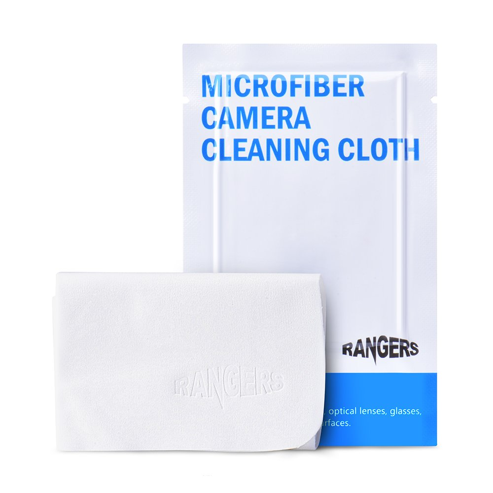Rangers 8pcs Microfiber Cleaning Cloths (Vacuum Packaged, White, 6' x 6') for Camera Lenses, LCD Screens, and Other Precision Optical Lenses RA099 6 x 6) for Camera Lenses RA-RA099