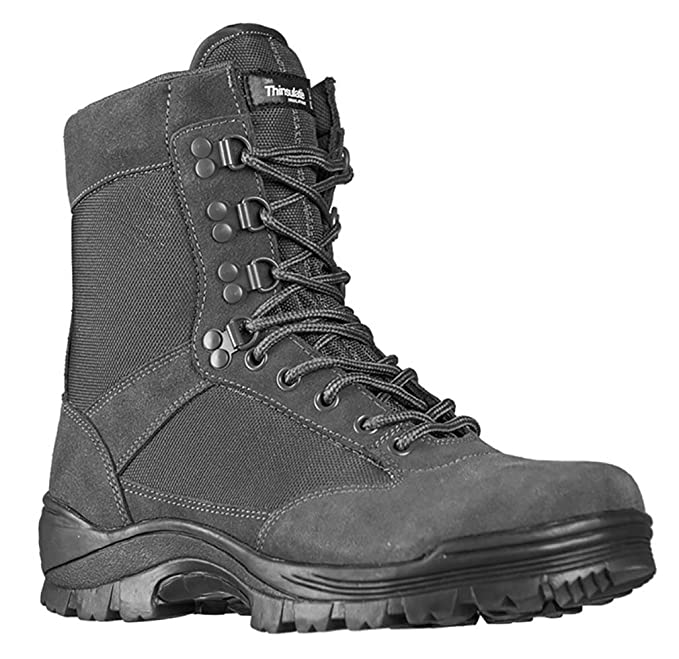 Mil-Tec Tactical Side Zip Botas Negro tamaño 11 UK / 12 US THWbEWNA