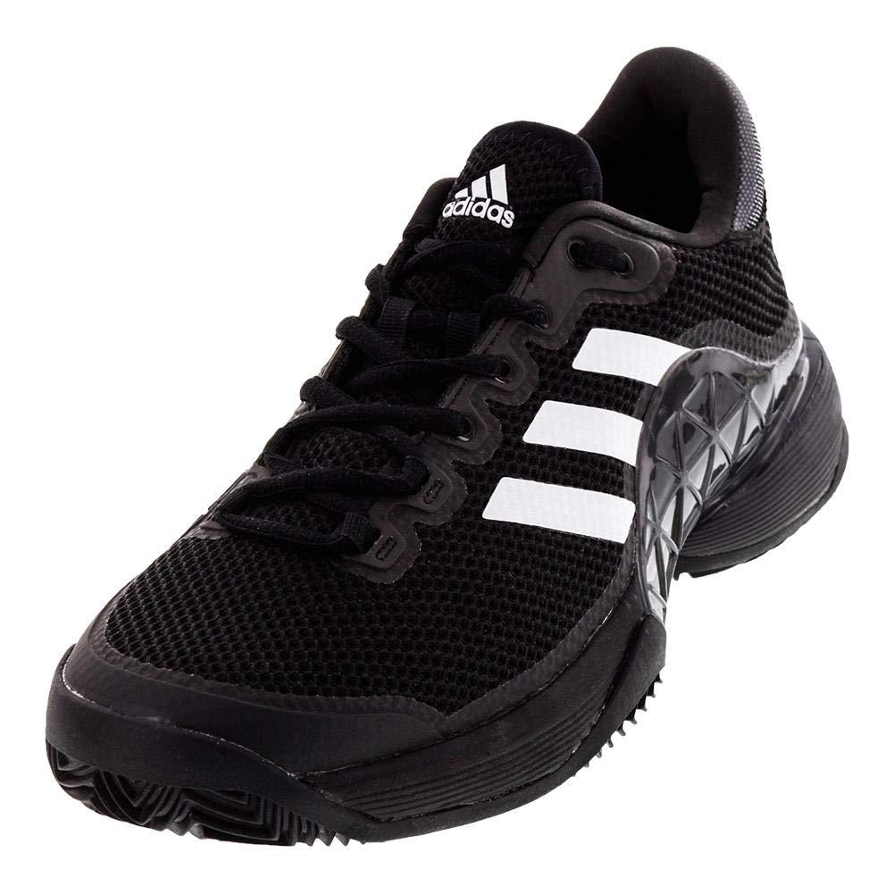 adidas Men's 2017 Barricade Boost Clay Court Tennis Shoes, Core BlackNight MetallicWhite (Size 8.5)