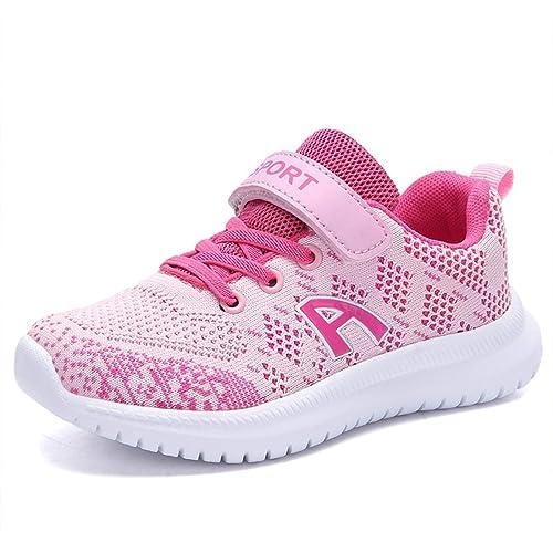 Zosyns Kinder Schuhe Sportschuhe Mesh Atmungsaktiv Laufschuhe Outdoor Sport Sneaker Turnschuhe Klettverschluss Wanderschuhe Hallenschuhe für Jungen