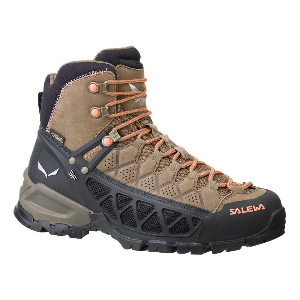 Salewa ALP Flow Mid GTX Hiking Boot - Women's Walnut/Peach Coral, 6.0 by Salewa