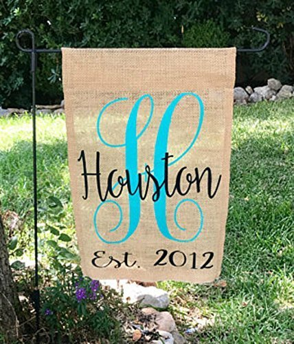Personalized Burlap Garden Flag