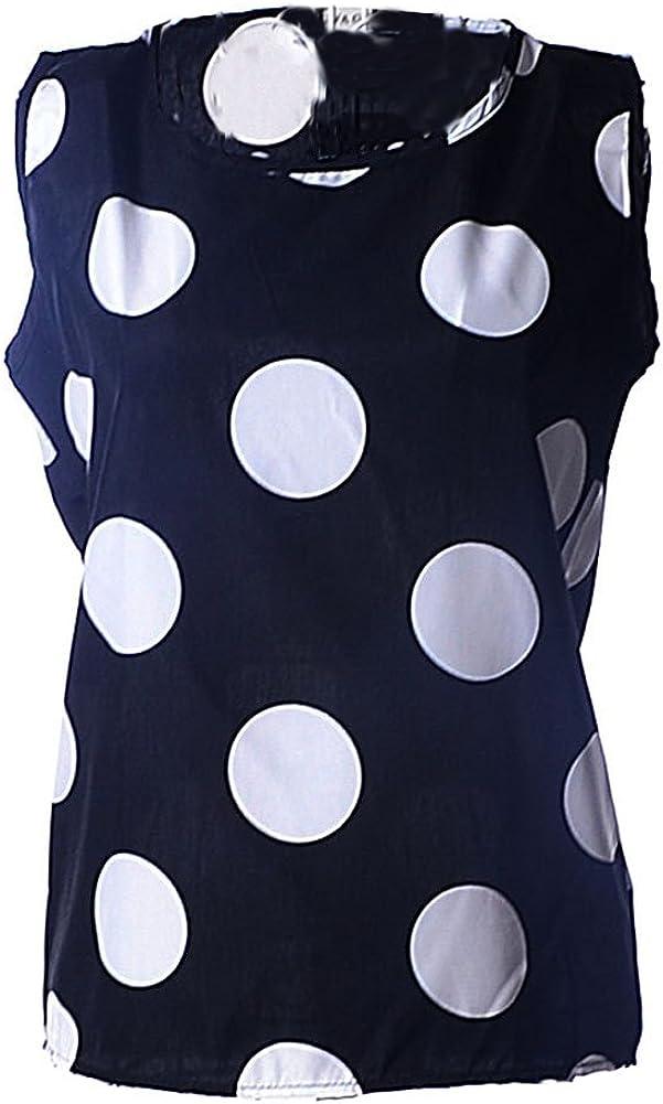 VOBAGA Womens Sleeveless Chiffon Tank Tops Vest