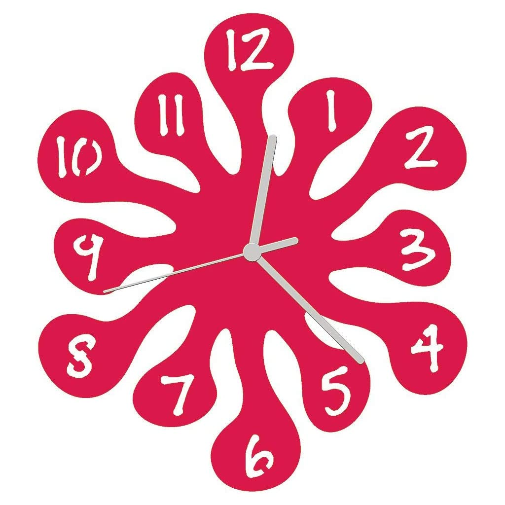 Euphyllia Splash Wall Clock Fuchsia Pink