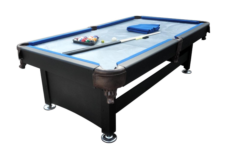 プール中央8 ' x 4.3 'ブラックandブルースレートビリヤードとプールゲームテーブル B01MQOPZM5