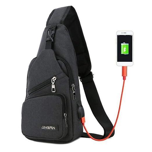Tree-on-Life USB Bolsos de Bandolera para Hombres Bolso de ...