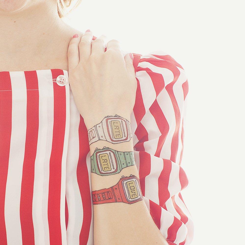 Amazon.com : Tattly Temporary Tattoos Watch Set : Beauty