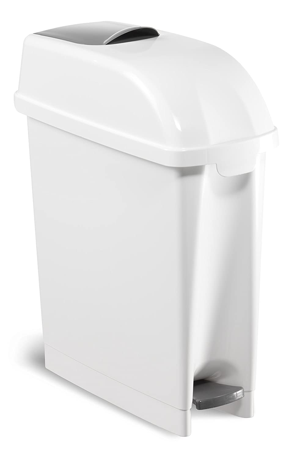 TTS Cleaning 00005480 Elle Polypropylene Container, Hatch, Pedal Lid, 17 Litre Capacity, White 17Litre Capacity TTS CLEANING S.R.L.