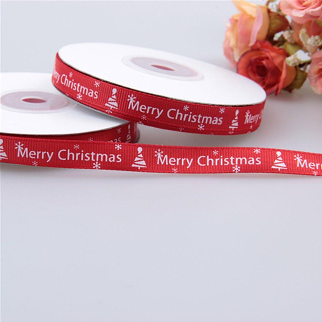 22,9/m//1/cm Rouge Filetage ruban Imprim/é ruban de papier cadeau de No/ël faite main D/écoration DIY