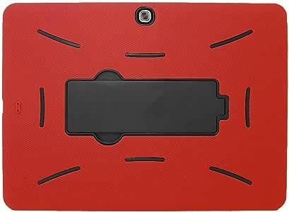 Galaxy Tab 4 10.1 Case KIQ (TM) Drop Protection Hybrid Heavy Duty Full-Body Protective Case for Samsung Galaxy Tab 4 10.1 [SM-T530] with Kickstand (Black/Red)