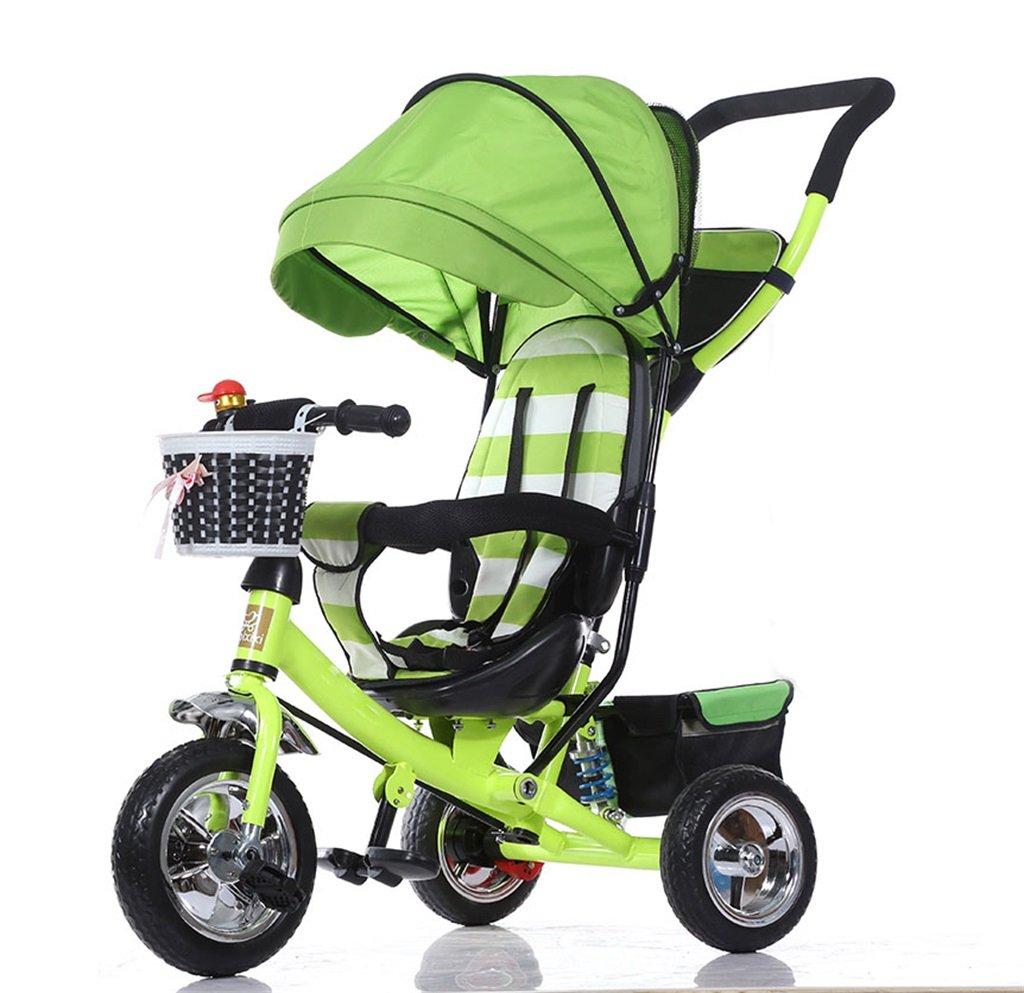 KANGR-子ども用自転車 三輪車の赤ちゃんキャリッジバイク子供のおもちゃの車のチタンの車輪/泡ホイールの自転車3つの車輪、緑の折り畳み式(少年/少女、1-3-5歳) ( 色 : A type ) B07BTMJG9J A type A type