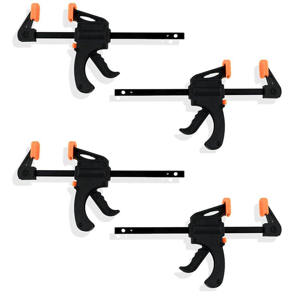 Black Duck Brand Ratchet Bar 4' Quick Clamp, Converts to 8' Spreader (4 Ratchet Bar Clamps) Converts to 8 Spreader (4 Ratchet Bar Clamps)