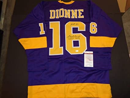 buy popular f3b5a b92e5 Marcel Dionne Autographed Los Angeles Kings Retro Replica ...