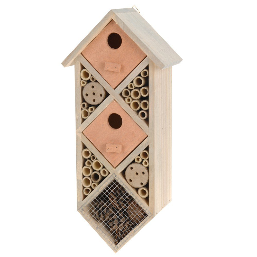 Large Wooden Insect Bee Bug Wildlife House Hotel Toci Garten