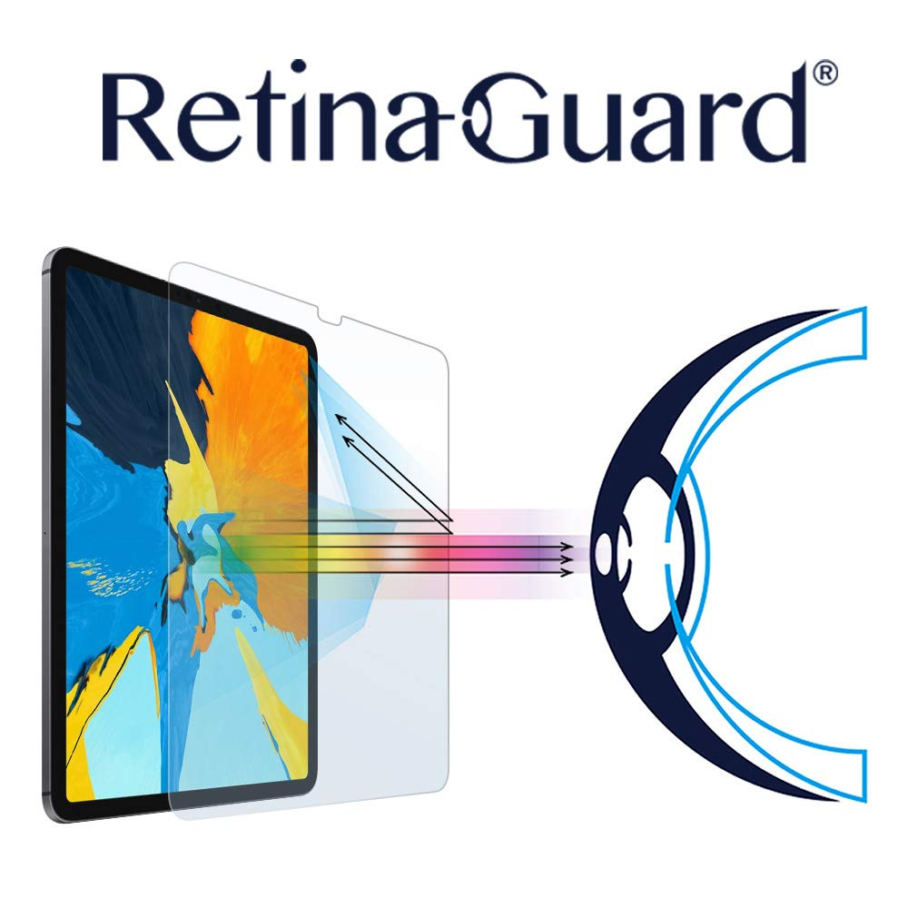 RetinaGuard Anti-UV, Anti-Blue Light Tempered Glass Screen Protector for 2018 iPad Pro 11'' - SGS & Intertek Tested - Blocks Excessive Harmful Blue Light, Reduce Eye Fatigue and Eye Strain