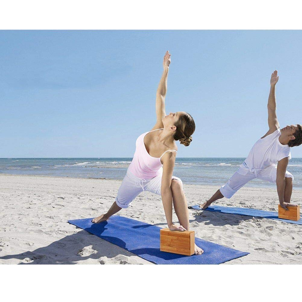 Amazon.com: Zixijiaju - Bloque de madera de bambú para yoga ...