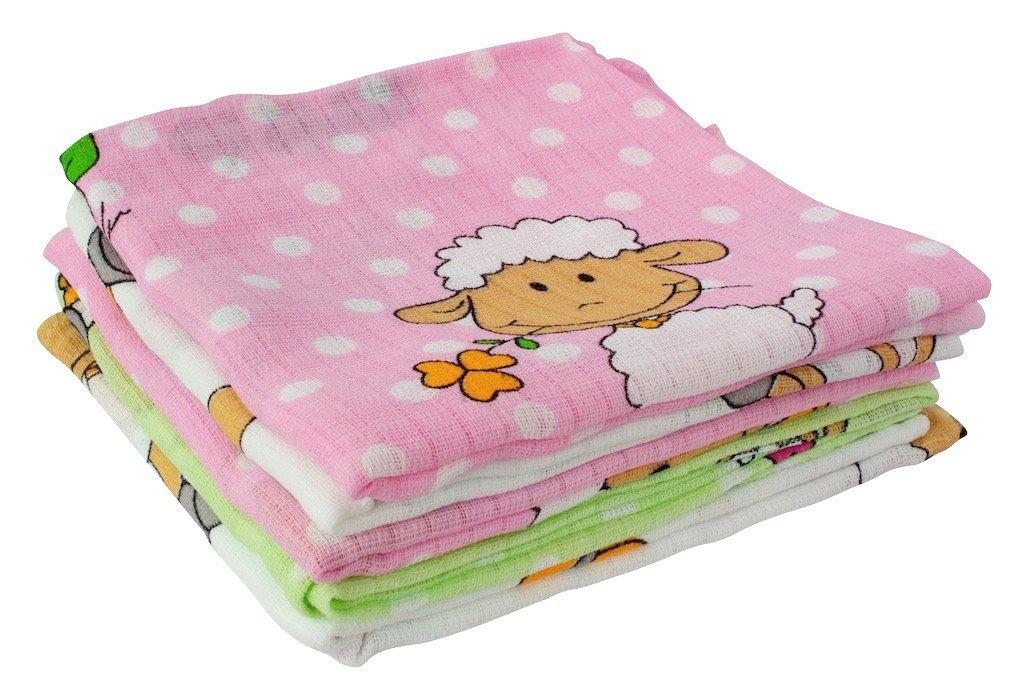 byboom - Gasas - Pañales de tela - para Vómitos paños - Multicolor - 70 x 80 cm - 5 Pack, 100% algodón; fabricado en la ue, color: azul - Ovejas: Amazon.es: ...