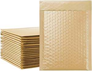GRNSHTS 25Pcs Poly Bubble Mailers 6x10 Inch Padded Envelopes, Custom Bubble Envelopes for Shipping/Packaging/Mailing, Bubble Lined Wrap Shipping Bags (Light Brown)
