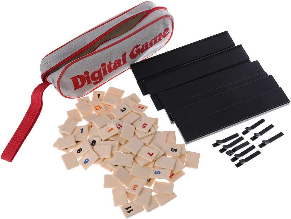 Jiay - Juego Digital de 2 a 4 Personas de Israel Mahjong rápido mudanza Rummy Tile Familia - Juego de Mesa portátil: Amazon.es: Hogar