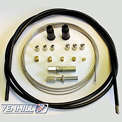 Venhill U01-4-101-BK Universal Motorcycle Throttle Cable Kit - 5mm OD: Automotive