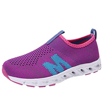 Fiaya Men and Women s Lightweight Casual Walking Athletic Shoes Breathable  Mesh Running Slip-on Sneakers 0af5cab821fb