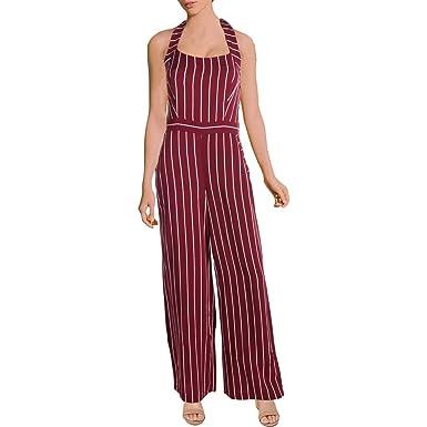 541d5be4912 Amazon.com  Juicy Couture Black Label Womens Halter Wide Leg Jumpsuit   Clothing