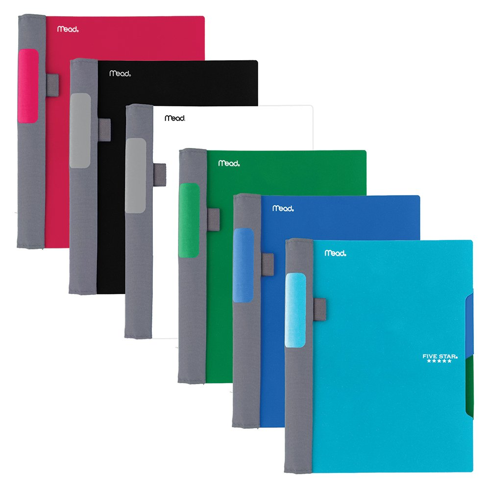 Five Star Advance Spiral Notebooks, 2 Subject, College Ruled Paper, 100 Sheets, 9-1/2'' x 6'', Assorted Colors, 6 Pack (38642)