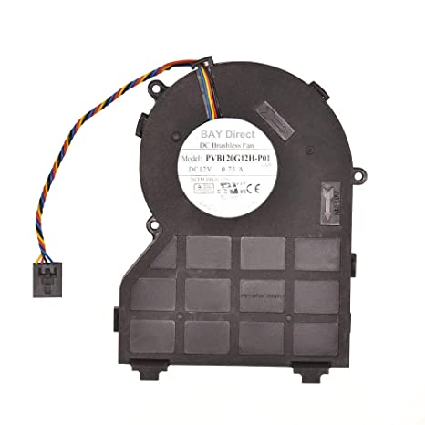 BAY Direct Replacement CPU Cooling Fan for Dell 390 790 990 (SFF) Series  Compatible Part Number PVB120G12H-P01 0J50GH 0637NC
