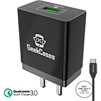 GeekCases Zipcube QC GC-QC1U-TC-BLK 3.0 Wall Charger Adapter for All Smartphones and Tablets (Black)