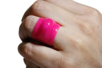 Pink Large To Fit N R Wedding Ring Guard Safe Protector Protection