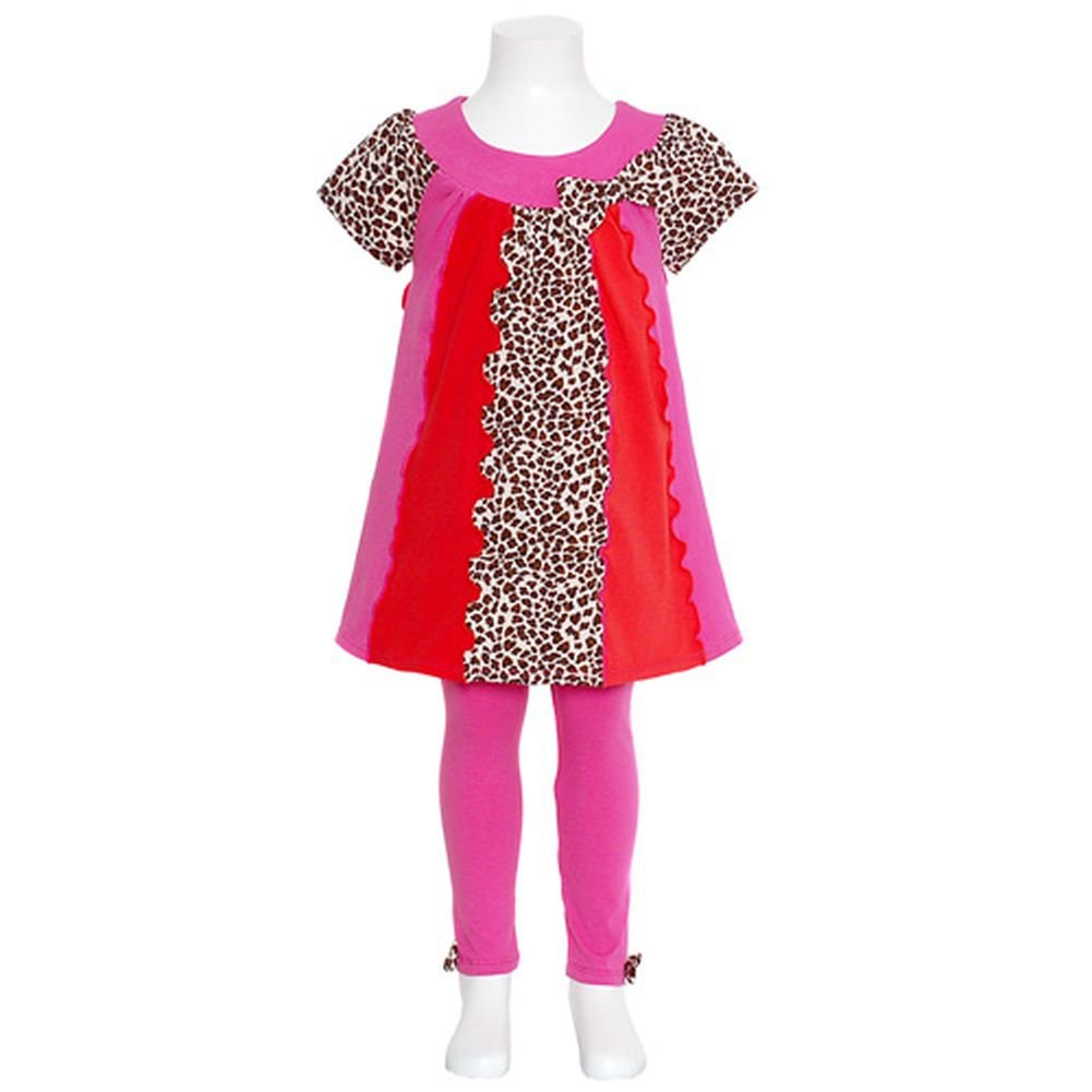 Bonnie Jean Pink Animal Stripe Fall Outfit Baby Toddler Girls 12M-4T