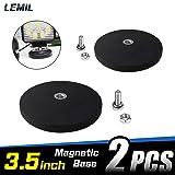 LEMIL - 2pcs Magnetic Base Mount Bracket Sucker