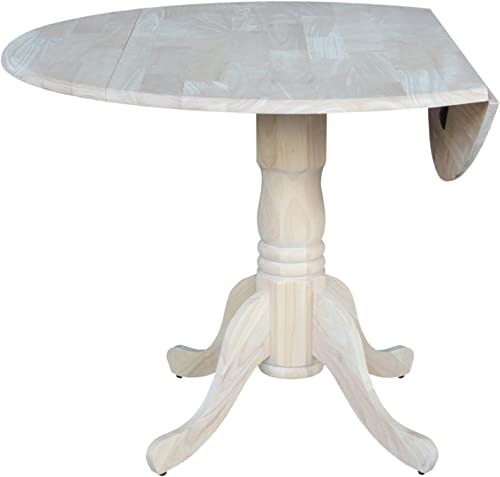 International Concepts 42-Inch Dual Drop Leaf Table, Unfinished